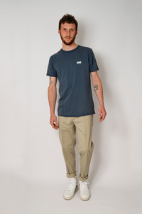 Herren Logo Patch Shirt aus Bio-Baumwolle, Denim - Barbeck