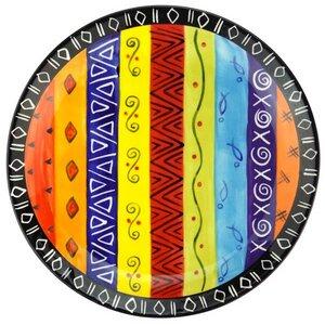 Multicoloured Ethnic - Speiseteller S/M - Kapula Keramik - Kapula Candles