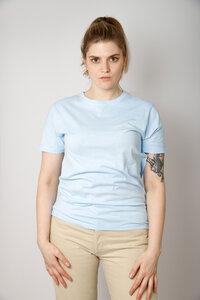Damen Batik Shirt aus reiner Bio-Baumwolle, eisblau - Barbeck