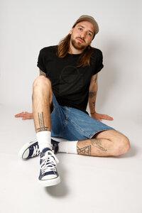 Herren Bio- Baumwoll Shirt mit Siebdruck, schwarz - Barbeck