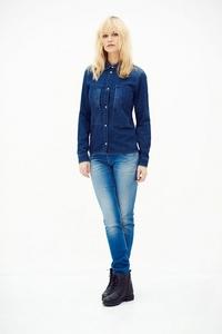 Nicole Shirt Navy- Damen Jeanshemd - Kuyichi
