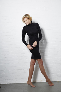 Turtleneck Dress Black - Hati-Hati