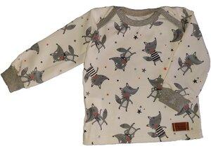 Babyshirt aus Biojersey lustiger Wolf - Omilich
