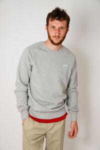 Herren Sweater aus Bio -Baumwolle, grau - Barbeck