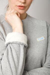 Damen Sweater aus Bio -Baumwolle, grau - Barbeck
