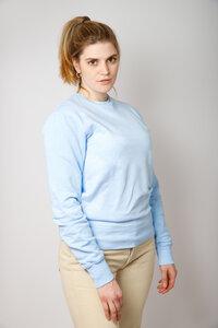 Damen Batik Sweater aus Bio -Baumwolle, eis blau - Barbeck