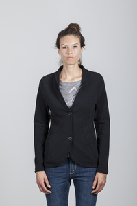 Mary Blazer Women Organic Cotton Black - Minimal - Re-Bello