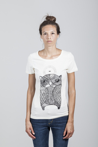 Denise T-Shirt Women Bamboo Whisper White - OWL - Re-Bello
