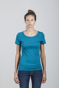 Denise T-Shirt Women Bamboo Ocean Depths - Minimal - Re-Bello