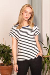 Gestreiftes T-Shirt Paris aus Bio-Baumwolle - l'amour est bleu
