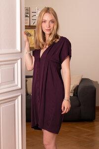 Geknöpftes Kleid Margherita aus Tencel - l'amour est bleu