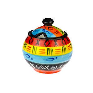 Multicoloured Ethnic - Zuckerdose - Kapula Keramik - Kapula Candles