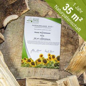 Artenvielfalt schützen - personalisierte Naturpatenschaft mit individuellen Gruß über 35 m²: 1 Jahr (2021) - Bienen-Pate-Bayern