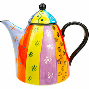 Multicoloured Ethnic - Kaffee- & Teekanne XXL - Kapula Keramik - Kapula Candles
