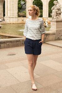 Shorts Mary aus Tencel - l'amour est bleu