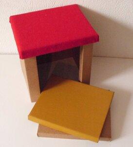 Hocker 'Klein Günni' Sitzfläche bunt - Papp à la papp