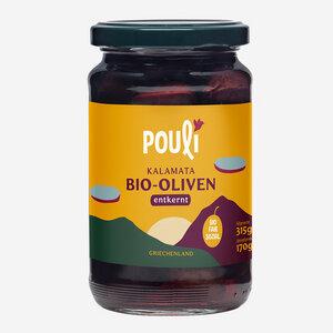 Kalamata Bio-Oliven, entkernt, Glas (315g) - Pouli Food