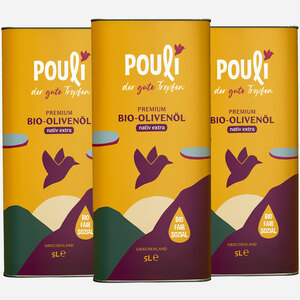 Ölreserve XL, nativ extra, 3 * Kanister (5-Liter) - Pouli Food
