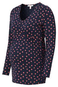 Umstands- Stillshirt navy rosa gemustert - Esprit maternity
