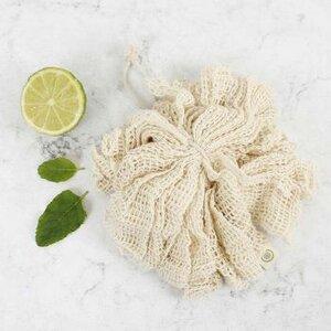 Organic Cotton Bath Puff aus Bio-Baumwolle - A Slice of Green