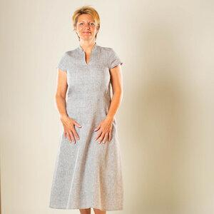 Leinen-Sommerkleid 100% Bioleinen - nahtur-design