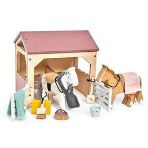 Pferdestall aus Holz für Puppenhaus wunderschön - Tender Leaf Toys