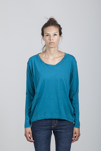 Eva T-shirt Women Bamboo Ocean Depths - Minimal - Re-Bello