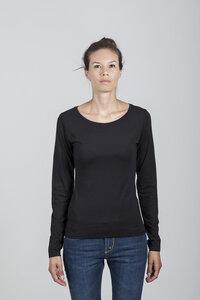 Grace T-shirt Women Bamboo Black - Minimal - Re-Bello