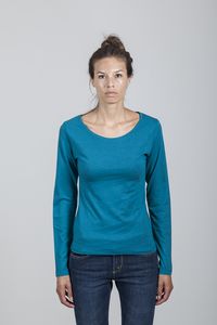 Grace T-shirt Women Bamboo Ocean Depths - Minimal - Re-Bello
