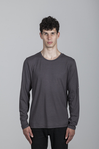 Geri T-Shirt Men Bamboo Dark Gull Grey - Minimal - Re-Bello