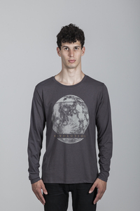 Geri T-Shirt Men Bamboo Dark Gull Grey - MOR - Re-Bello