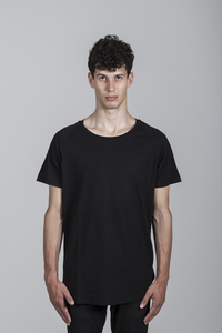 Peter T-Shirt Men Bamboo Black - Minimal - Re-Bello