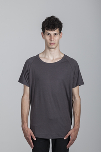 Peter T-Shirt Men Bamboo Dark Gull Grey - Minimal - Re-Bello