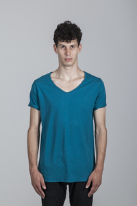 Michele T-shirt Men Bamboo Ocean Depths - Minimal - Re-Bello