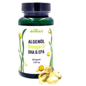 Omega-3 Algenöl mit DHA & EPA - 90 Kapseln - dreikraut