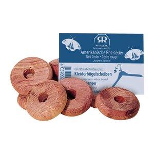 Zedernholz Kleiderbügelscheiben 10er Pack - natürlicher Mottenschutz Mottenabwehr - Redecker