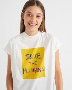 Save The Humans Oversize T-Shirt - thinking mu