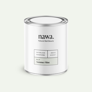 Natürliche Wandfarbe No. 27 Summer Mint 2,5 Liter - nawa