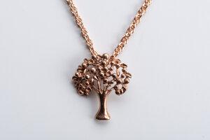 Vintage Unikat: Kordelkette Baum, Roségold - MishMish by WearPositive
