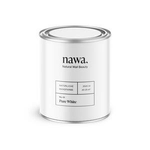 Natürliche Wandfarbe No. 01 Pure White - nawa