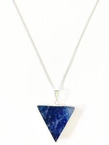 Lapislazuli Dreieck Halskette, vergoldet oder versilbert - Crystal and Sage