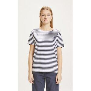 T-Shirt VIOLET mit Streifen - KnowledgeCotton Apparel