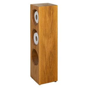 Toilettenpapierhalter Stehend Holz Eiche Massivholz Klopapierhalter ohne Bohren - GreenHaus