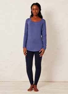 Bamboo Basic Top Blue - Braintree