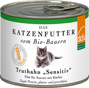 defu Bio Truthahn Sensitiv Pâté für Katzen - defu - dem Leben verpflichtet