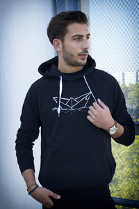 Paperboat Unisex Hoodie Organic & Fair Wear _black - ilovemixtapes