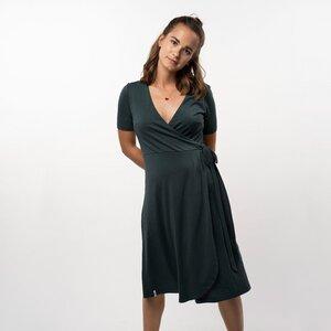 "Kleid Damen ""Lena"" - Tencel + Bio-Baumwolle grün - Vresh Clothing"