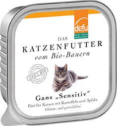 defu Bio Gans Sensitiv Pâté für Katzen - defu - dem Leben verpflichtet