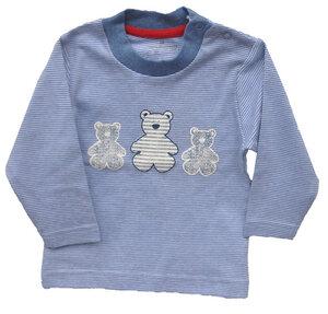 Baby Langarmshirt hellblau gestreift 100% Baumwolle ( bio) - Ebi & Ebi Naturel Line
