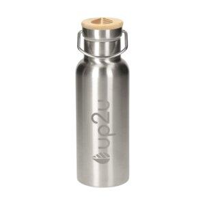 Edelstahlflasche MuC Bottle | Thermoflasche mit Bambus | 500 ml - up2u